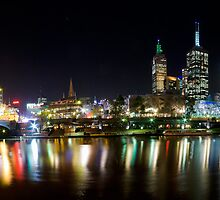 Melbourne across the Yarra by Geoffrey Dunn