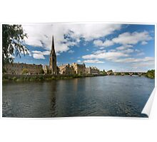 Perth from the River Tay Poster