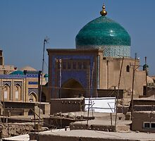 Rooftops of Khiva by Gillian Anderson LAPS, AFIAP