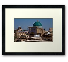 Rooftops of Khiva Framed Print
