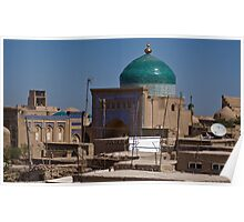 Rooftops of Khiva Poster