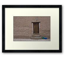 Khiva doorway Framed Print