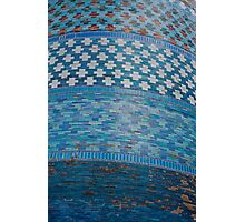 Tiles of the Khiva Unfinished Minaret Photographic Print
