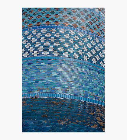 Tiles of the Khiva Unfinished Minaret Photographic Print