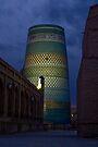 Khiva minaret at dusk by Gillian Anderson LAPS, AFIAP