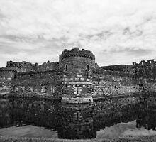 Beaumaris Castle B/W edit by Julesrules