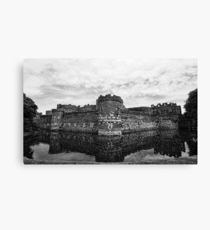 Beaumaris Castle B/W edit Canvas Print