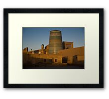 Khiva walls at dawn Framed Print