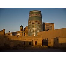 Khiva walls at dawn Photographic Print