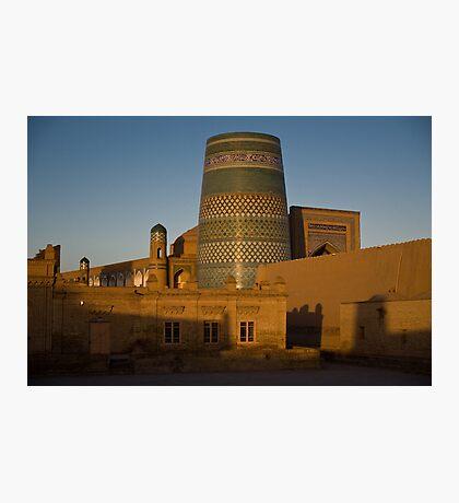 Khiva walls at dawn Photographic Print