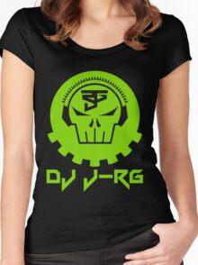 DJ J-RG Skull Logo Women's Fitted Scoop T-Shirt