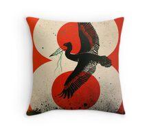 An Ocean of Oil - Pelican Throw Pillow