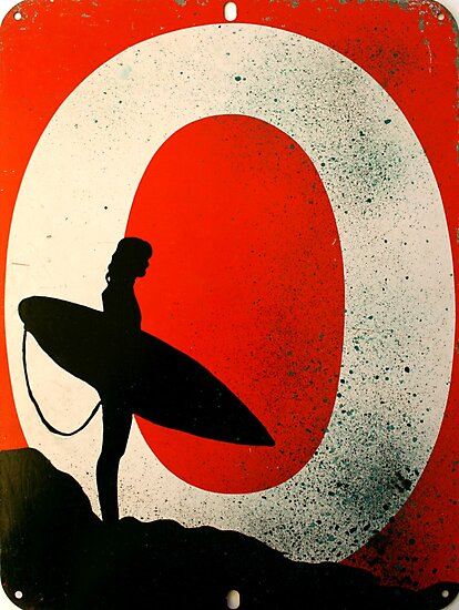 An Ocean of Oil - Surfer by Miriam Shilling