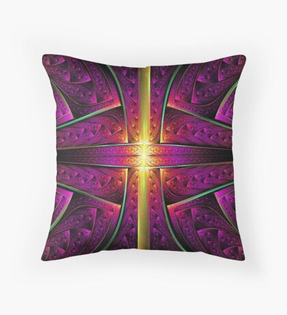 Vertical Gold Throw Pillow