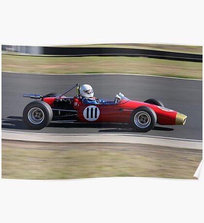 Open Wheeler Race Car Poster