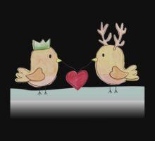 Christmas Love Birds Kids Tee