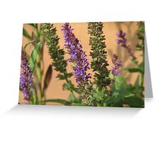 Blue Spikes Greeting Card