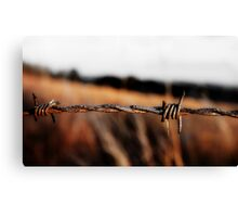 Barbed on a Hill Canvas Print