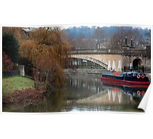 canal in bath,england Poster