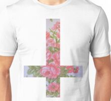 Pink Roses Inverted Unisex T-Shirt