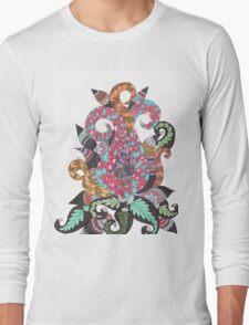 Abstract color Lotus Long Sleeve T-Shirt