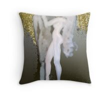 GОLDEN  RAIN and the moon at my feet Throw Pillow