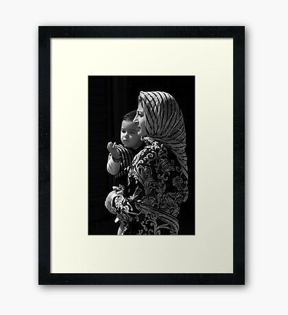Mother and Child-Leh Framed Print