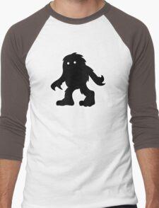 Bigfoot After Dark - Design by NoirGraphic. Men's Baseball ¾ T-Shirt