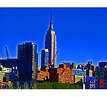 Empire State - a distant view Photographic Print