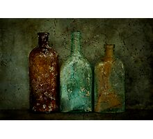 Three Old Bottles Photographic Print