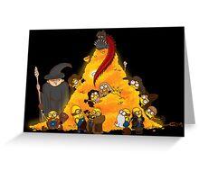 Despicable Hobbit... & Dwarfs  Greeting Card