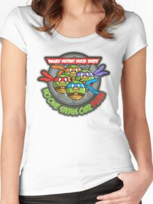 Angry Mutant Ninja Birds Women's Fitted Scoop T-Shirt
