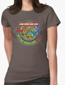 Angry Mutant Ninja Birds Womens Fitted T-Shirt