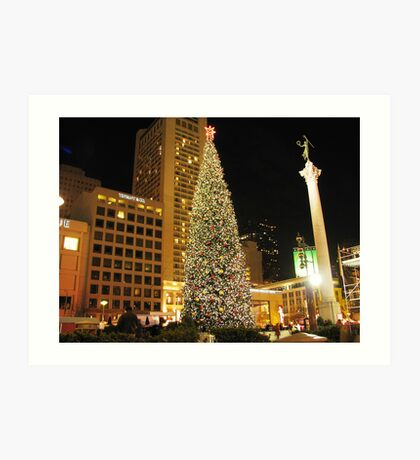 Christmas in San Francisco Art Print