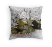 Covered Bridge Infrared Throw Pillow