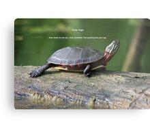 Turtle Yoga Metal Print