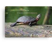 Turtle Yoga Canvas Print