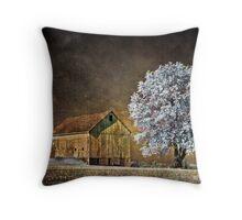 Barn Infrared Throw Pillow