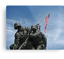 A Salute to our Marines Metal Print