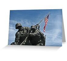 A Salute to our Marines Greeting Card