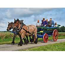 Farmer's wagon from Schouwen. Photographic Print