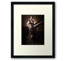 1940's style woman colour Framed Print