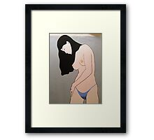 NEARLY NUDE  Framed Print