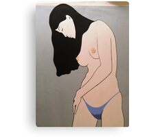NEARLY NUDE  Canvas Print