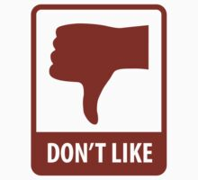 Thumbs Down, Don't Like by SymbolGrafix