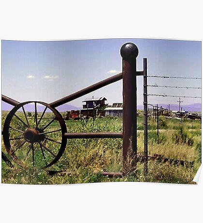 Beyond the Gate, a Desert Ranch Poster