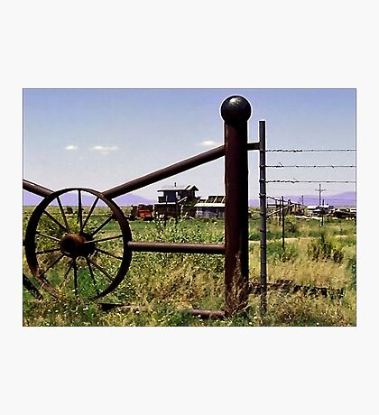 Beyond the Gate, a Desert Ranch Photographic Print