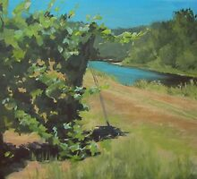 Vineyard on the River by Karen Ilari