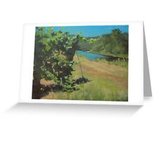 Vineyard on the River Greeting Card