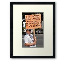 Defender of Traditional Marriage .5 Framed Print